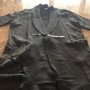 Like new Ellen Tracy charcoal cardigan XL